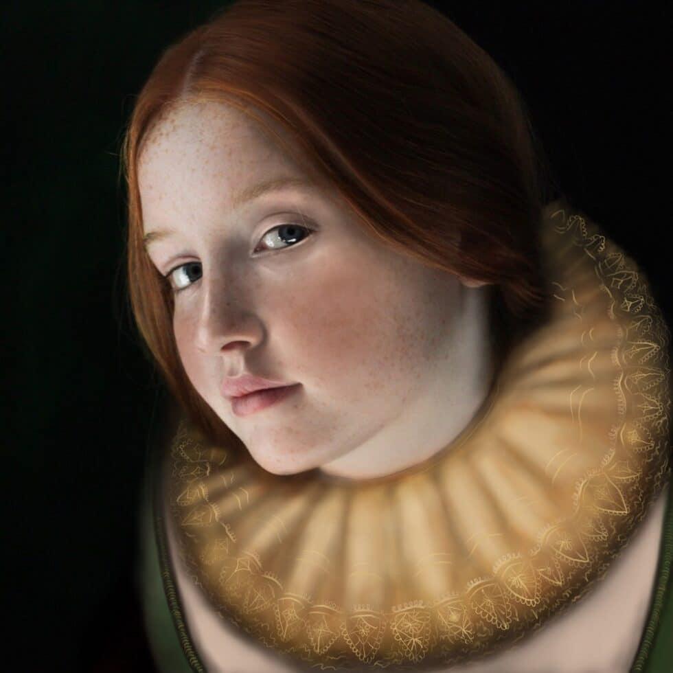 Glance... Izzy in Tudor Collar