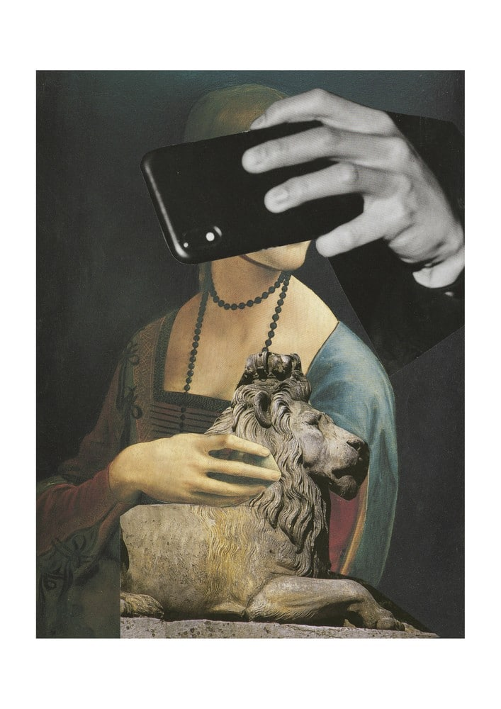 Lady With Lion And Mobile
