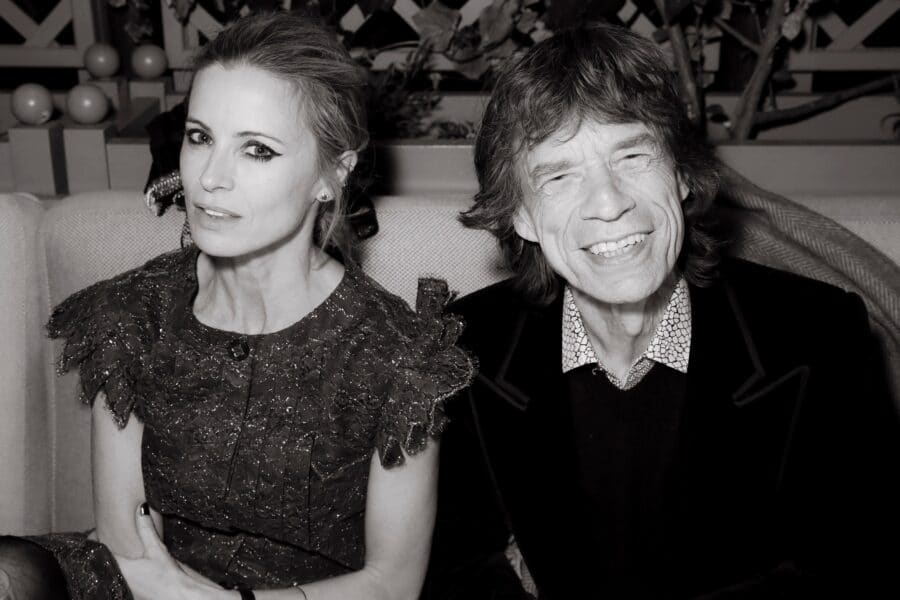 Laura Bailey and Mick Jagger