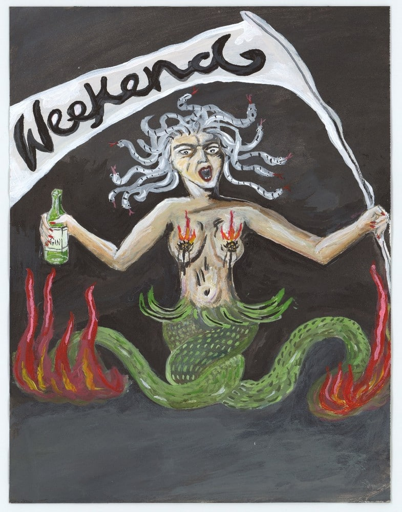 Medusa on the weekend during lockdown