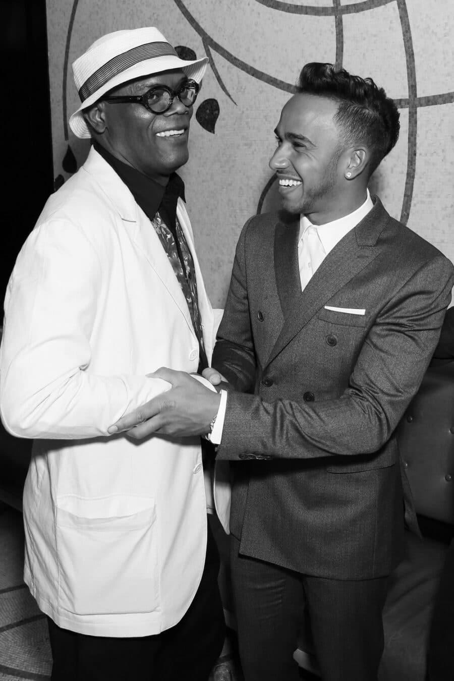 Samuel L Jackson & Lewis Hamilton