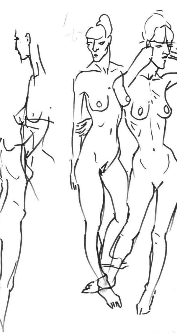 Nude at the Anatomy Amphithéâtre at Beaux